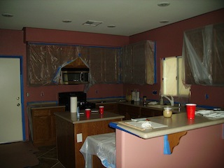 Kitchen Being Painted